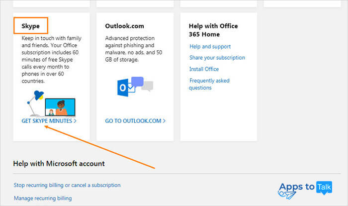 Free Skype minutes as a part of purchase of Office 365