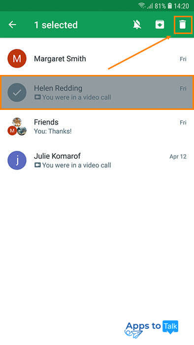 Guide on managing call & chat history in Hangouts